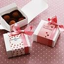 [メール便OK]手作りトリュフにぴったり。白い小箱(小)のバレンタインラッピングセット(10セット入)