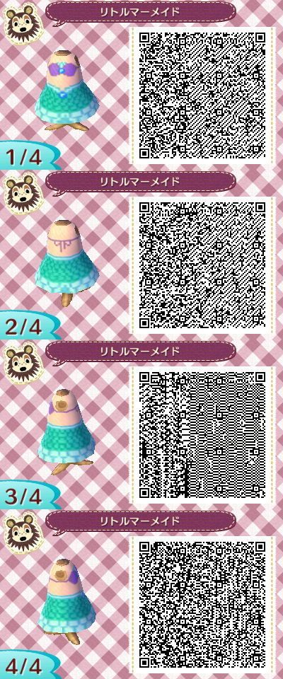 Exceptionnel Animal Crossing New Leaf the Little Mermaid | Outfits/QR Codes for  NV75