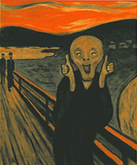 The Scream Edvard Munch Parody