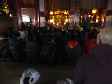 浄土宗災害復興福島事務所のブログ-20121226ふくスマ善光寺本堂参拝