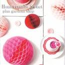 Honeycombs Sweet ハニカム スウィート3個セット ピンク系 《メール便対応商品》【ペーパーハニカムボール】【イベント デコレーション 結婚式】