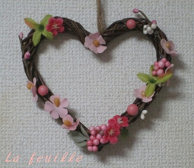La feuille のナチュラルライフ-春のリース②