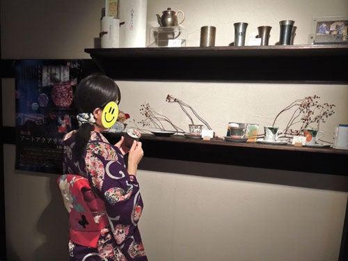 $東京で着物ライフを楽しむ会 ~東京きものライフ~-風雅すたいるカフェで焼物を見る