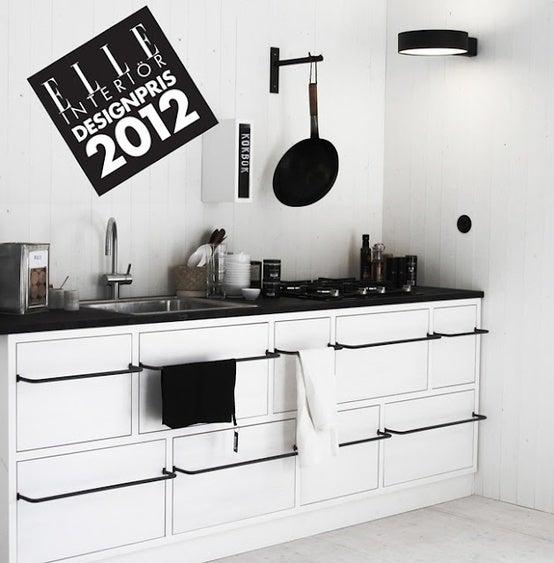 ブラック&ホワイト!スタイリッシュな北欧キッチンのインテリア