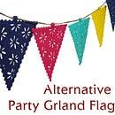 【1個までメール便OK】Alternative(オルタナティブ)パーティーガーランド(フラッグ)(パーティー装飾品)