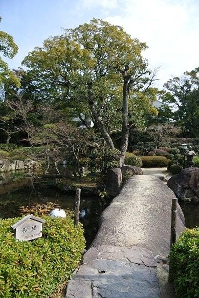銀座由美ママの心意気-太閤園 庭園一枚岩の石橋