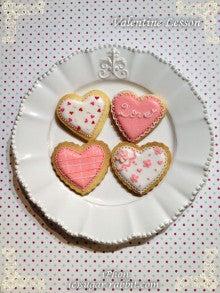 $東京都内で自宅教室 アイシングクッキー、シュガークラフト、スイーツデコ教室の『シュガー・ラビット』-2013バレンタインレッスン