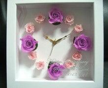 $喜び、驚き・感動をお届けするM's Art ~職人日記~-プリザーブドフラワー 時計