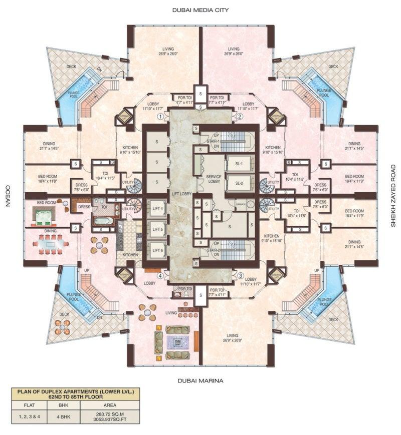 3 3 bedroom duplex floor plans viewing gallery