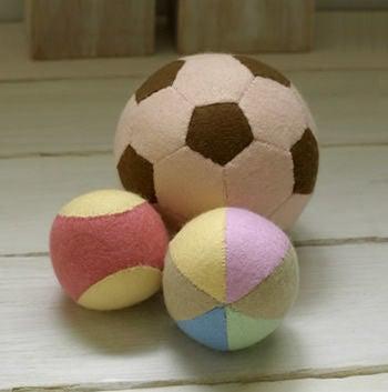 フェルトボールの型紙と作り方