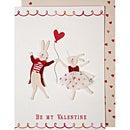 LAの人気ブランド・メリメリのグリーティングカード☆直輸入*Valentine・ダンシングバニーズ〈バレンタインカード〉