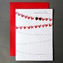 バレンタインカード(ユーアンドミー) 02 ハートの行列
