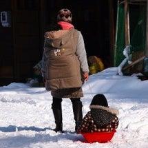 雪の中で鬼は外〜!