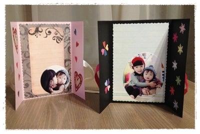 子供が毎日見たくなる子育てアルバム:簡単スクラップブッキング浦和-バレンタインカード