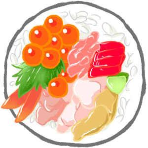 笑顔になれる場所-巻き寿司 恵方巻き イラスト
