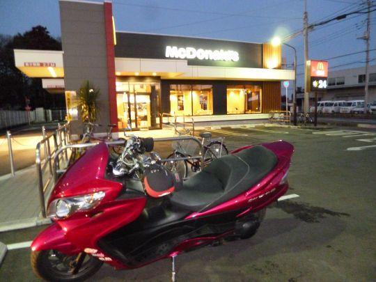 $ビッグスクーターのある生活-富里のマクドナルド