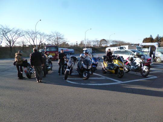 $ビッグスクーターのある生活-谷田部東PAで集合