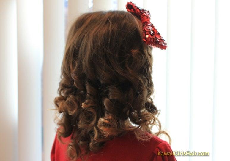 かんたん かわいい 女の子のヘアスタイル-後ろ姿