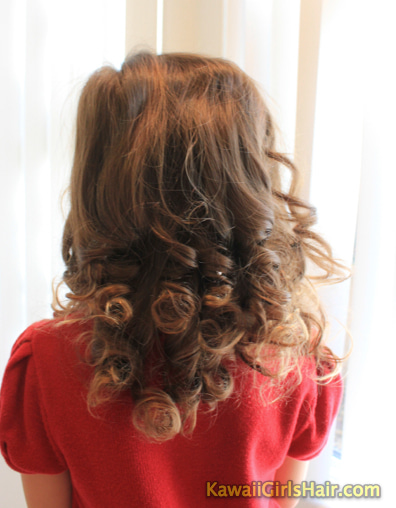 かんたん かわいい 女の子のヘアスタイル-全体