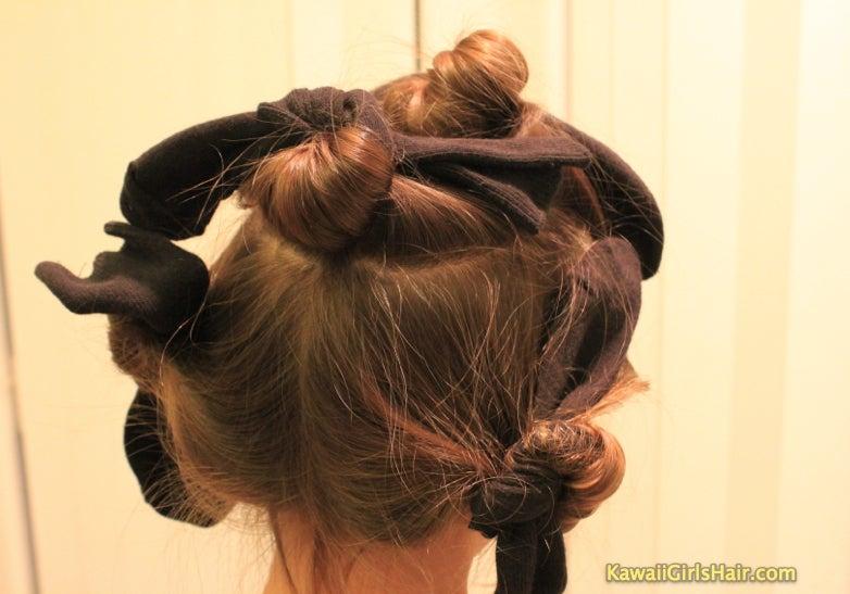 かんたん かわいい 女の子のヘアスタイル-靴下