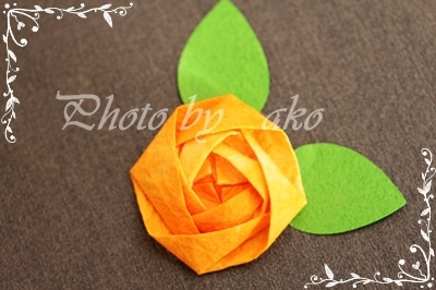 ハート 折り紙 : 折り紙 バラの花 : locknut10.rssing.com