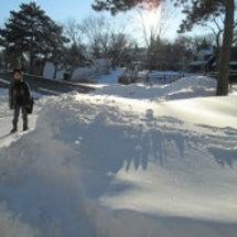 雪どっぷり。運転注意…