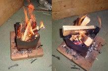楽園管理人アツシの絵日記-最強のウッドストーブ、焚き火台03