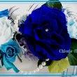 大輪の薔薇でブルーの…