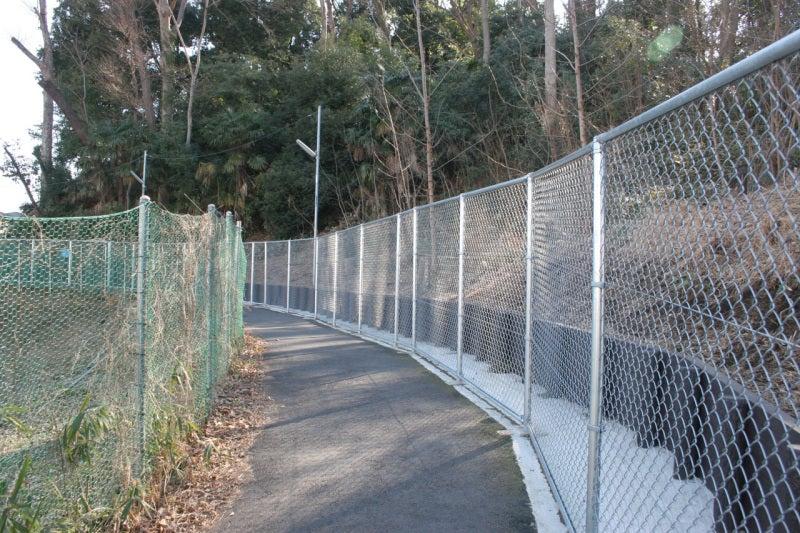 篠原城址の周りはフェンスで囲まれている