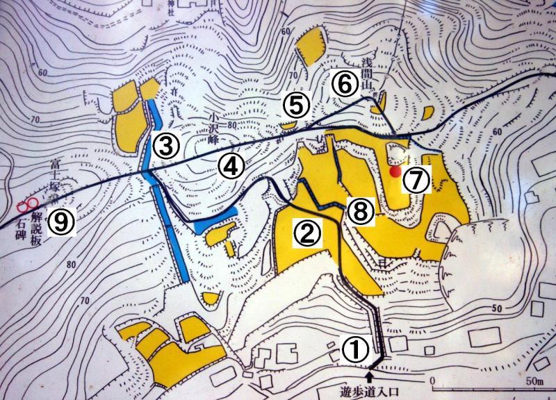 小沢城の図
