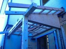 甘棠のブログ-新しい玄関ポーチの屋根