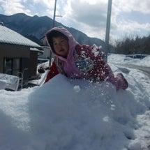 雪のキャンバス(親子…