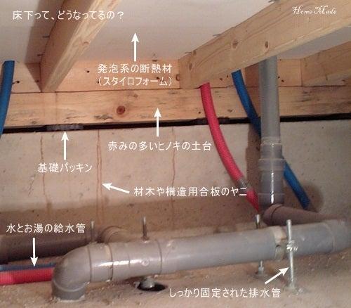 $住まいと環境~手づくり輸入住宅のホームメイド-配管のある床下環境