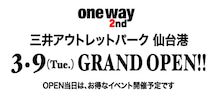 one way2nd三井アウトレットパーク仙台港STAFF BLOG