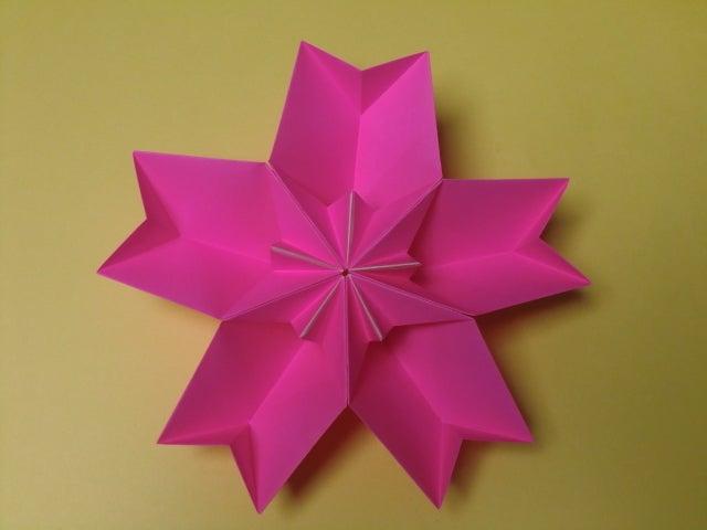 すべての折り紙 桜 花びら 折り紙 : 桜の器 その2|折り紙の ...
