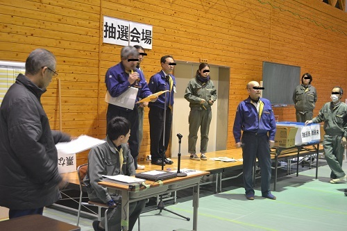 長野県上松技術専門校 木工ブログ2012-抽選リハーサル