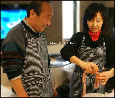 男の料理教室【メンズ・キッチン】メンズ・キッチンスタイリストYOKO(福本陽子)-YOKOの夫婦料理教室 ソーセージ体験
