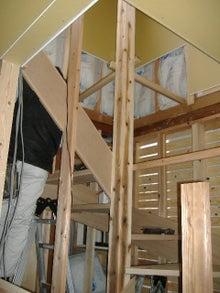 甘棠のブログ-2階への階段はまだ未完成