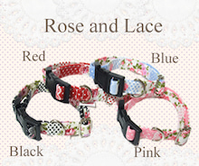 Rose&Lace柄の首輪