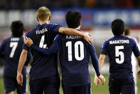 本田圭佑 香川真司 長友佑都 サッカー 日本代表