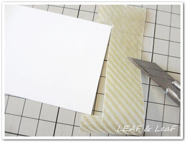 LEAF&LeaFの「手作りカード」な暮らし。/ 手作りペーパーアイテムのお店「LEAF&LeaF SHOP」-席札手作り マスキングテープ