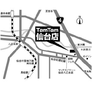 $ホビーショップタムタム仙台店のブログ-マップ