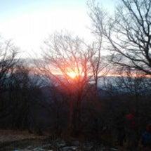 丹沢山頂での初日の出