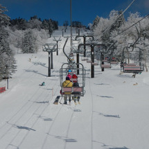 万座でスキー