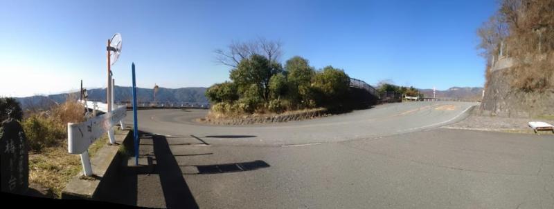 土肥城/しとどの窟バス停の前
