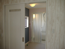 甘棠のブログ-家事室側から洗面脱衣室