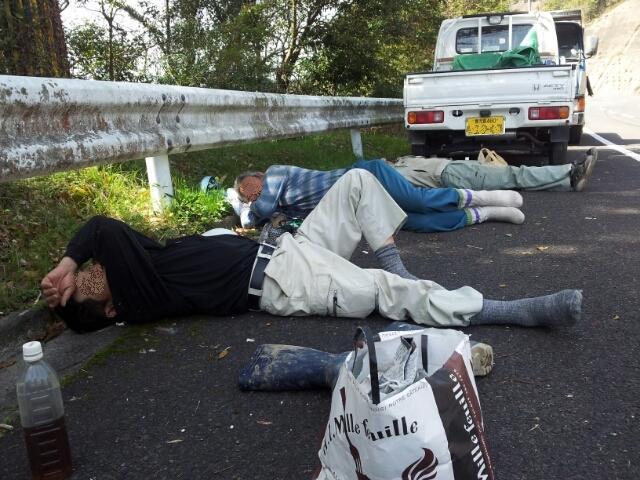$歩き人ふみの徒歩世界旅行 日本・台湾編-縁石を枕に