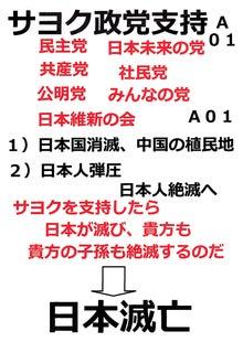 日本人の進路-サヨク政党支持で日本滅亡