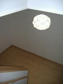 甘棠のブログ-玄関ホールはイケヤで購入した照明