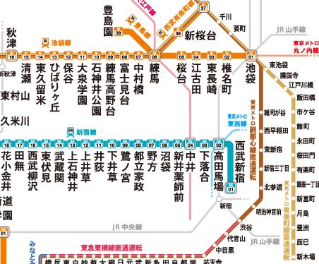 kazukunの神出鬼没-江古田 路線図